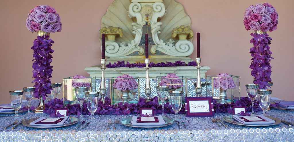 Grace table purple